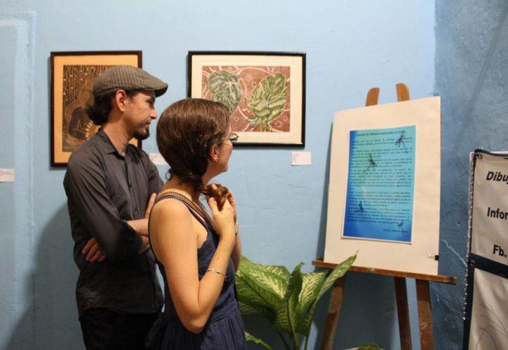 La nueva galería cultural 'Libélula Azul' cuenta con obras de artistas locales. (SIPSE)