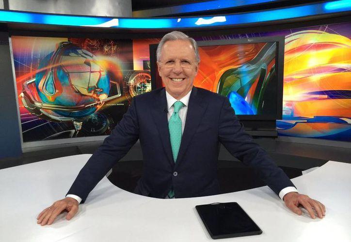 Dieciséis años estuvo al frente del noticiero estelar de Televisa Joaquín López-Dóriga. (Twitter.com/@lopezdoriga)