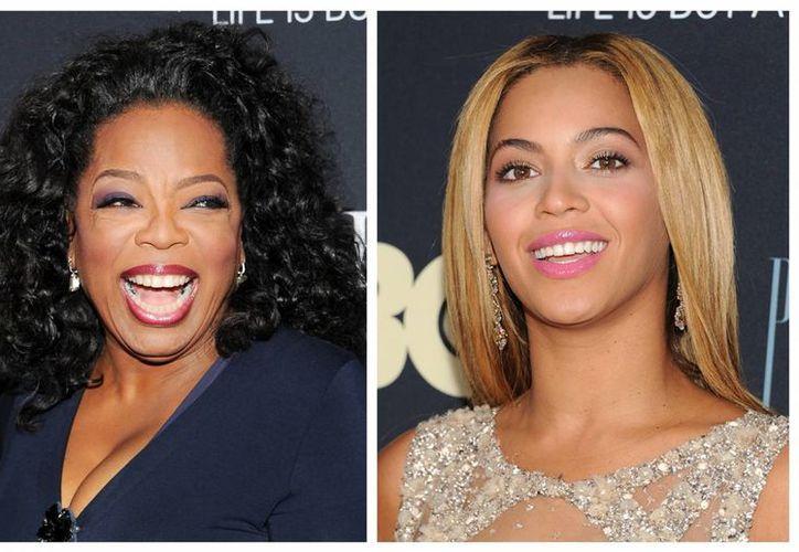Oprah Winfrey (i) y Beyonce Knowles durante la premier del documental. (Agencias)