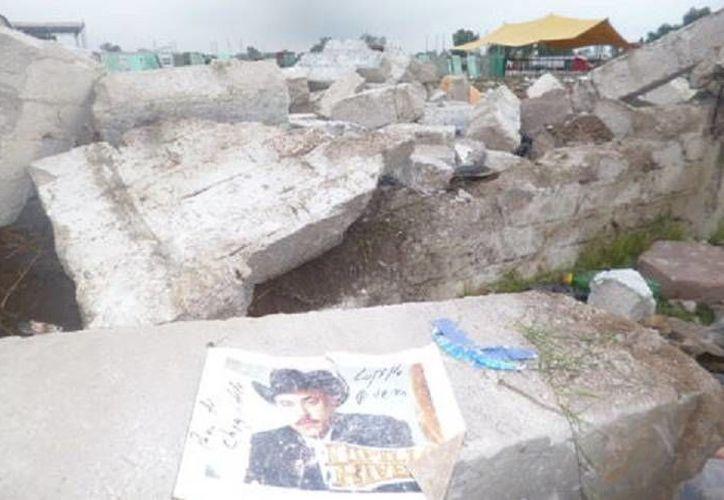 En el sitio donde ocurrió la estampida y derrumbe fueron hallados tres cartuchos percutidos. (Foto cortesía tomada de Milenio)