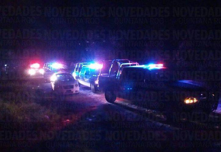 Desde el fraccionamiento Las Palmas inició la persecución y concluyó en la Región 206. (Foto: Eric Galindo/SIPSE)