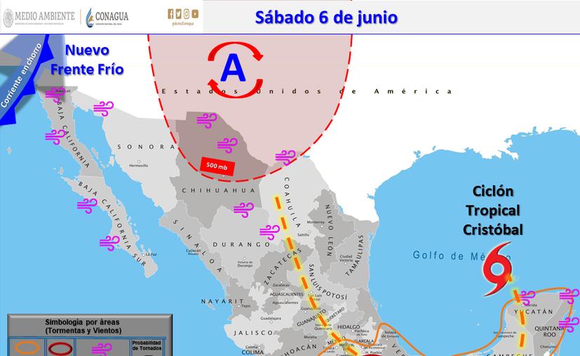 Clima Cancún Quintana Roo 6 de junio de 2020 (Conagua)