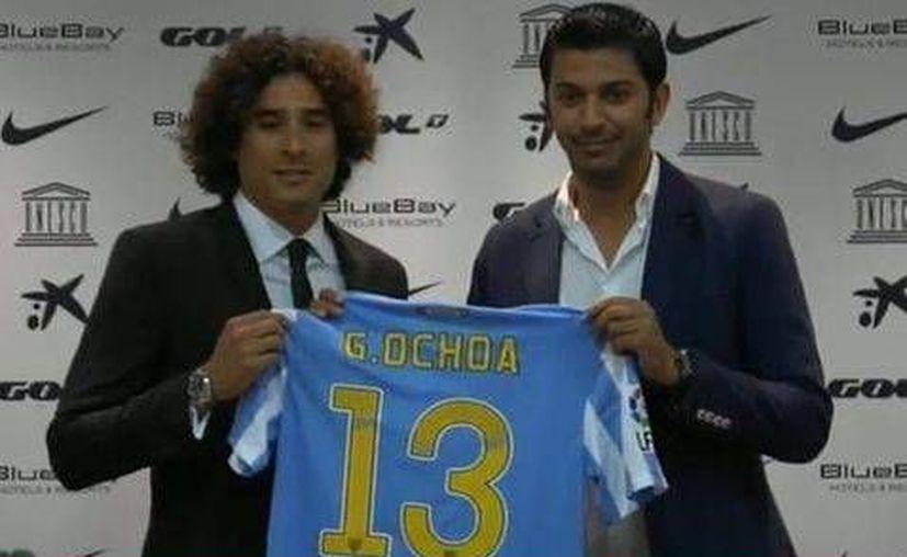 'Memo' Ochoa jugará por primera vez en su carrera en la Liga de España con el Málaga. (Foto: cortesía del club Málaga)