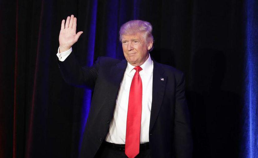 Donald Trump se convirtió en el 45° Presidente de los Estados Unidos de América.  (AP/John Locher)
