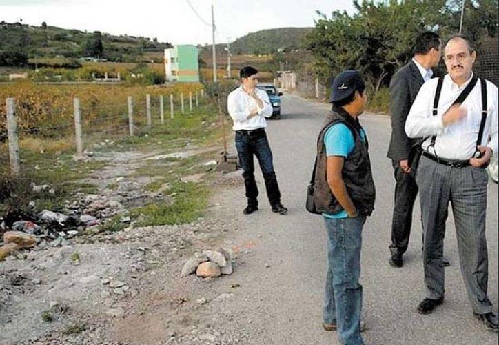 Imagen del lugar donde fueron encontrados los cuerpos de 11 personas en Chilapa, Guerrero. (Milenio)