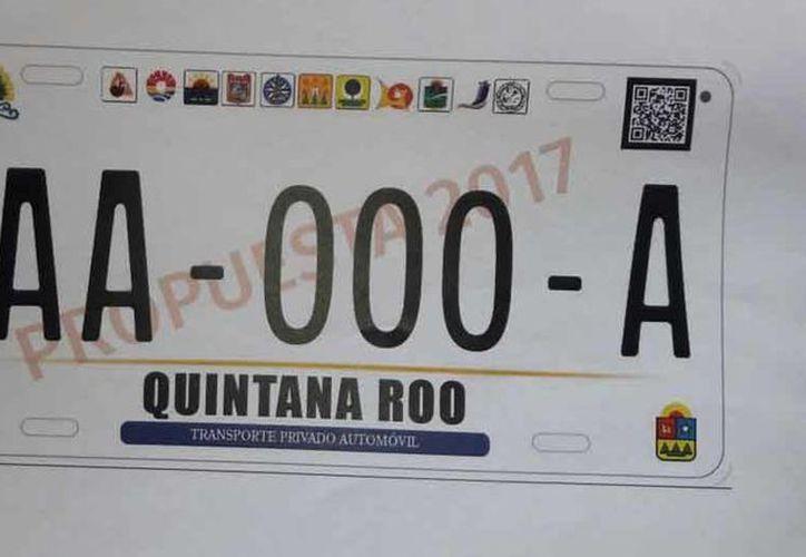 Propuesta de placas de vehículos de Quintana Roo. (Redacción/SIPSE)