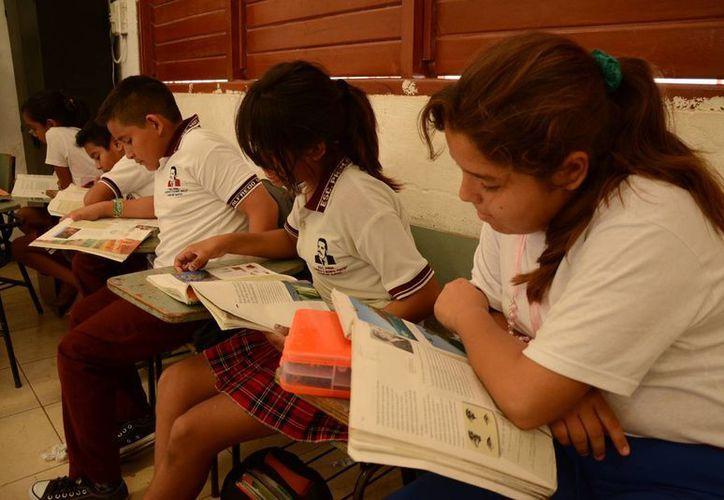 Este lunes se reportó un ausentismo del 5% en algunas escuelas. (Victoria González/SIPSE)