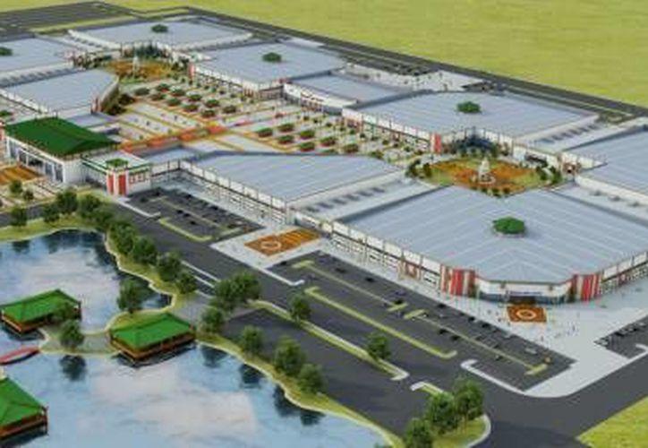 Maqueta del proyecto Dragon Mart en Cancún. (Redacción/SIPSE)