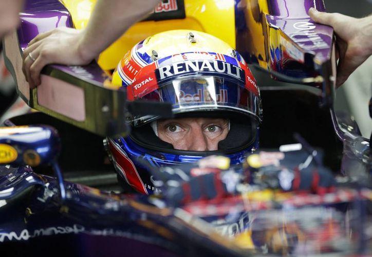 Webber (foto) superó apenas a Grosjean durante la última sesión de entrenamientos libres del Gran Premio de Brasil de Fórmula Uno. (EFE)