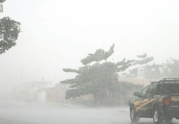 Las rachas de los vientos de esta tarde de martes habrían alcanzado los 79 km/h. (Amílcar Rodríguez/ Milenio Novedades)