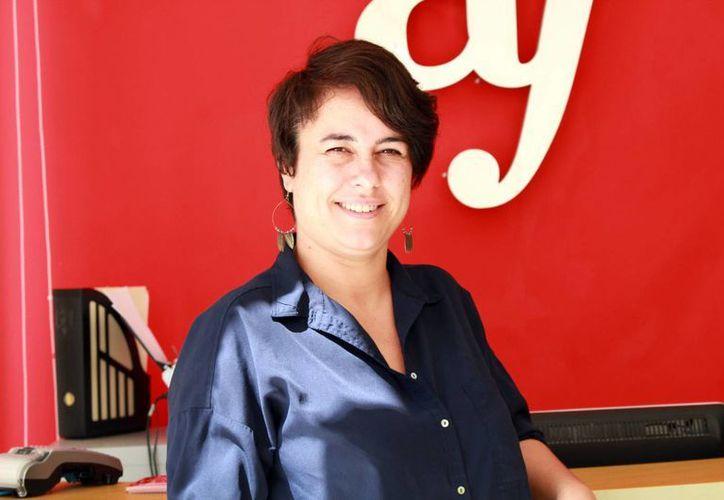 En la foto, Marion Lecardonnel, directora de la Alianza Francesa, organizadores del Mes de la Francofonía.(Jorge Acosta/SIPSE)