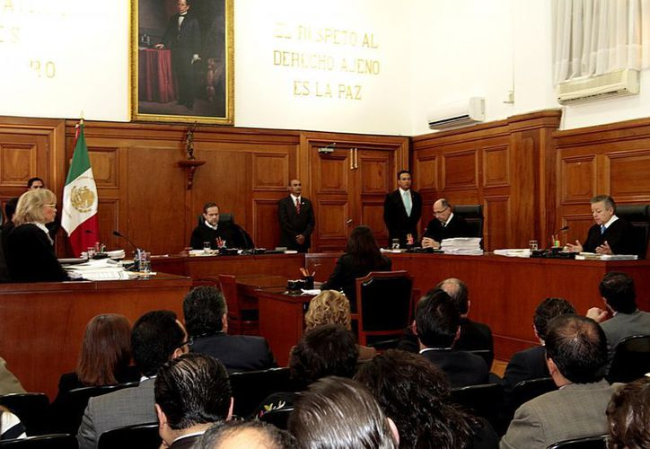 La Suprema Corte, durante la sesión donde se ordena la inmediata libertad de Florence Cassez, ayer. (Notimex)