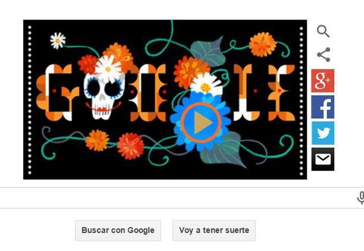 Google se unió a los festejos del Día de Muertos con un doodle musicalizado. (Captura de pantalla)