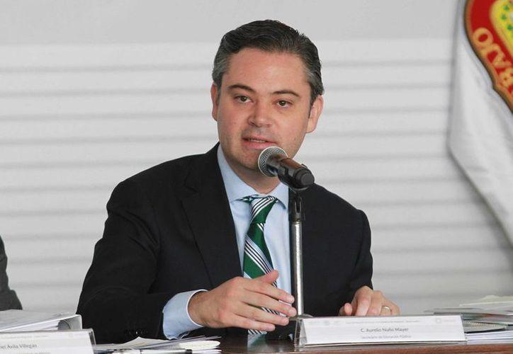 El secretario de Educación, Aurelio Nuño Mayer, destacó el mejoramiento de las escuelas como parte de la reforma educativa. (Notimex)