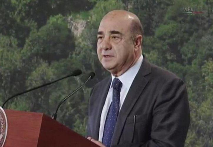 Imagen del Procurador General de la República, Jesús Murillo Karam, durante su participación en el Encuentro Nacional de Procuración y Administración de Justicia.(@PGR_mx)