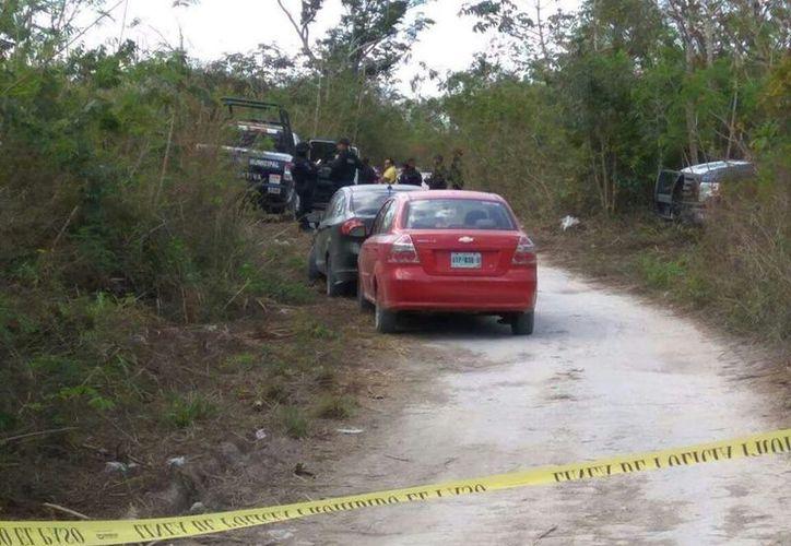 El cuerpo fue encontrado en un camino de terracería. (Eric Galindo/SIPSE)