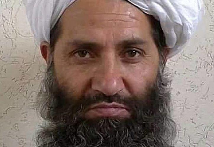 El mulá Mawlawi Haibatullah Akhundzada, líder del movimiento talibán, llamó a sus seguidores a honrar 'al Todopoderoso'. (npr.org)