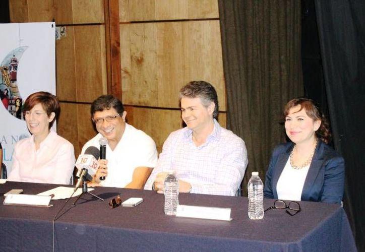 Este jueves la Dirección de Cultura del Ayuntamiento ofreció una conferencia de prensa para informar del balance de La Noche Blanca, en su cuarta edición. (SIPSE)