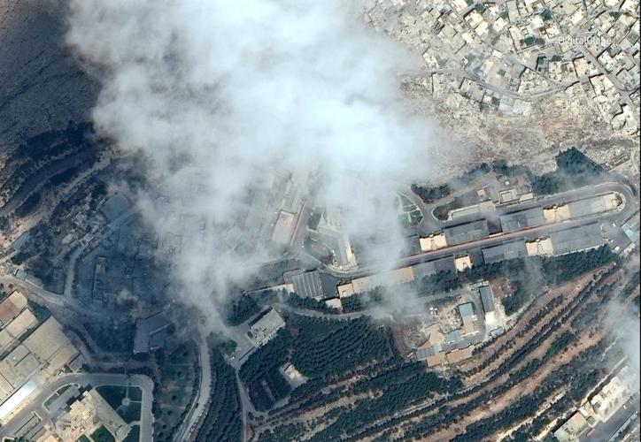 El Centro De investigación Barzah en Damasco, después ser atacado. (Foto: Reuters)
