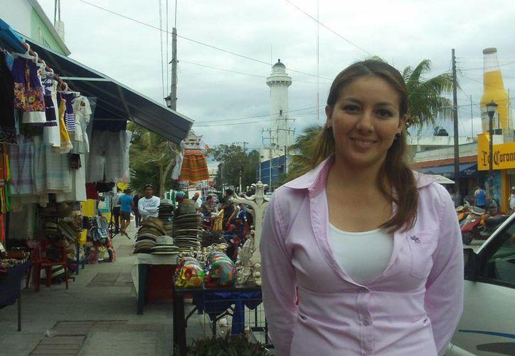 Ana Cecilia Rodríguez informó que Progreso tendrá su stand en la feria de Valladolid. (Manuel Pool/SIPSE)