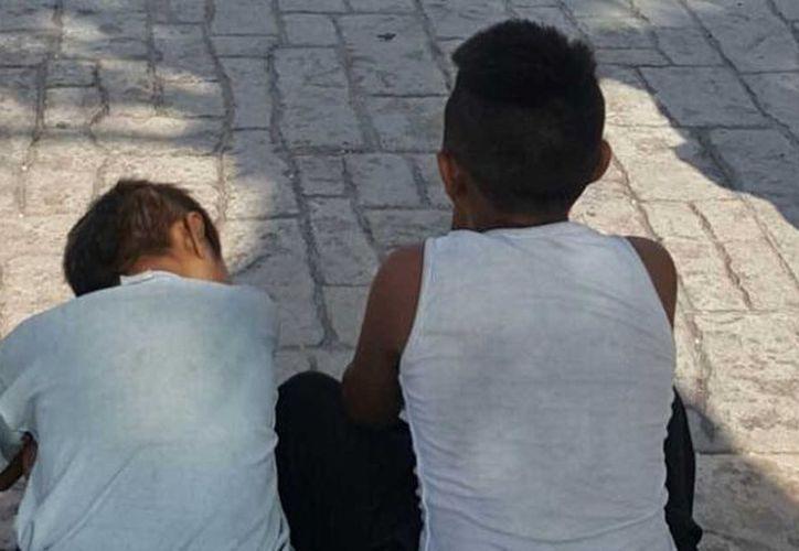 Los menores, son hermanos, salieron de su casa porque al parecer enfrentan problemas de violencia. (Redacción/SIPSE)