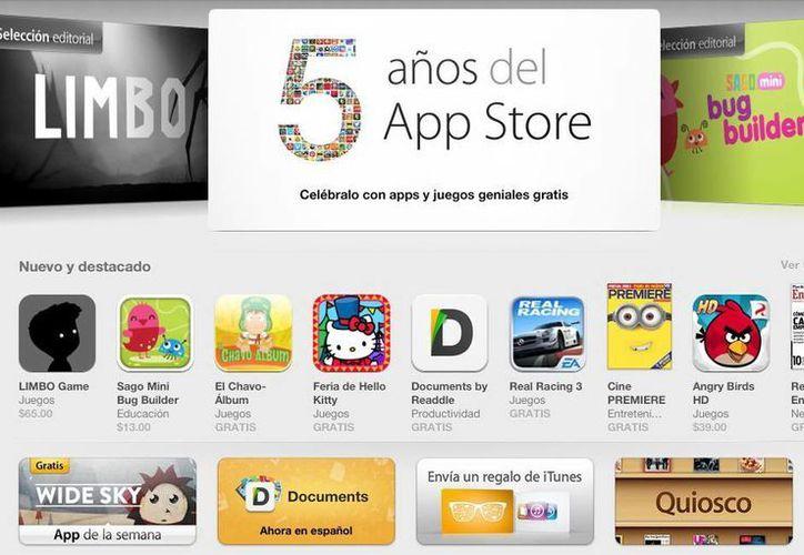 Captura de pantalla de inicio de la tienda de Apple en ipad. (App Store)