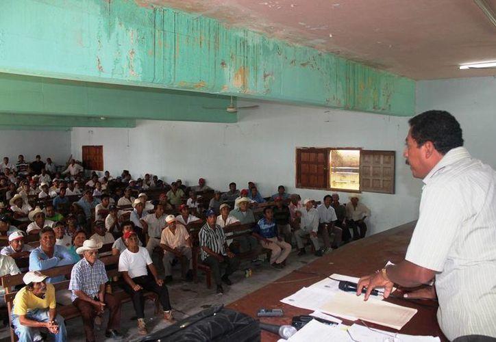 Los ejidatarios de Laguna Om votaron en contra del proyecto para que una empresa estadounidense cultivará lenteja de agua en sus tierras. (Edgardo Rodríguez/SIPSE)