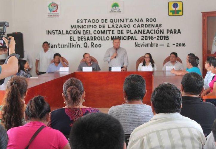 Instalan Comité de Planeación para el Desarrollo Municipal. (Raúl Balam/SIPSE)