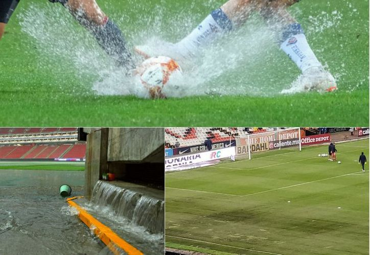 Soccer fields in terrible conditions of the Liga MX