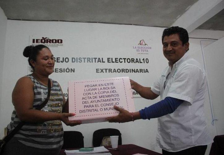 Dentro de las instalaciones del Distrito 10 del Instituto Electoral de Quintana Roo se han realizado un promedio de 20 simulacros para estar listos para la jornada del 5 de junio. (Daniel Pacheco/SIPSE)