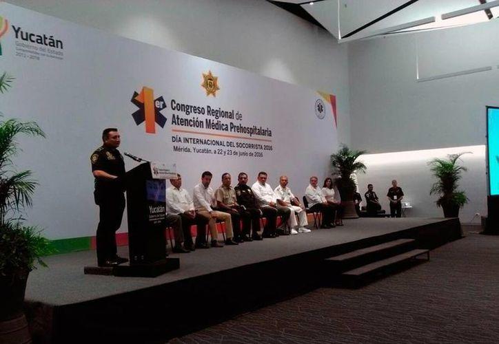 El Primer Congreso Regional de Atención Médica Prehospitalaria empezó este miércoles en Mérida. Concluye mañana jueves 23 de junio. (Luis Fuente/SIPSE)