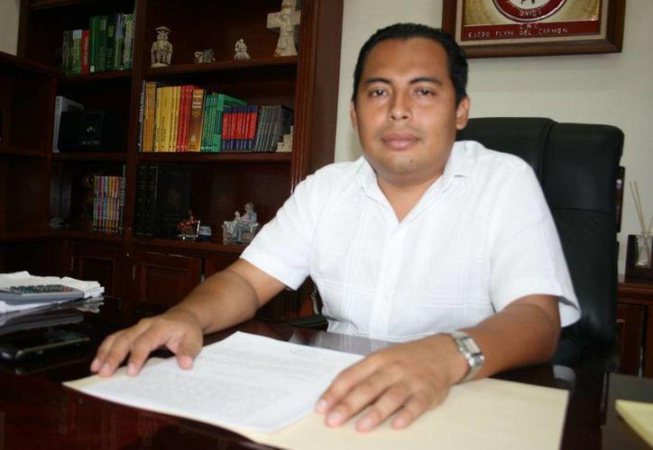 Walter Puc Novelo finalizó su administración en el ejido. (Adrián Barreto/SIPSE)