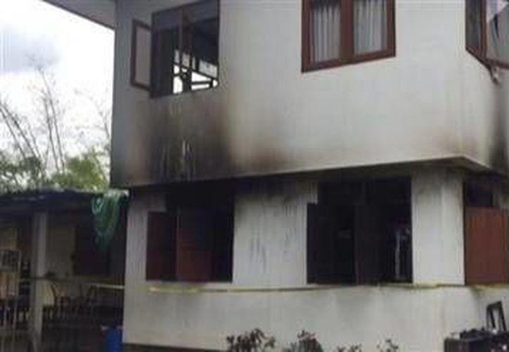 Foto del internado después del incendio el 23 de mayo del 2016 en Tailandia, en el que murieron 18 estudiantes. ( Voice TV Thailand via AP).