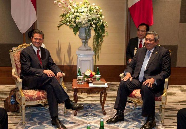 Lee Hsien Loong reiteró la invitación a Peña Nieto para una visita oficial al país. (presidencia.gob.mx)