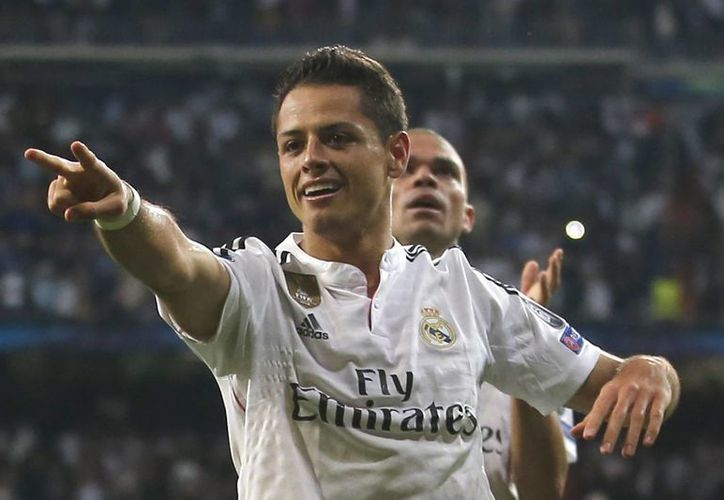'Chicharito' anotó el gol que llevó al Madrid a semifinales de la Champions. (Foto: AP)
