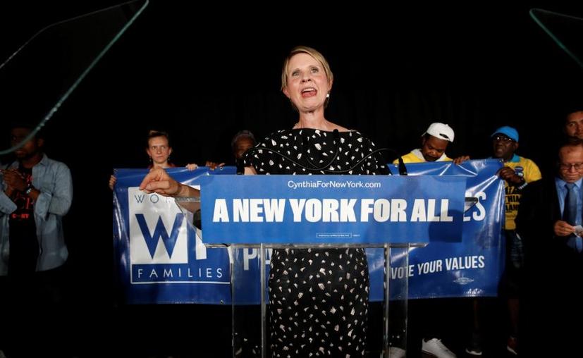 Cynthia Nixon se despide de la posibilidad de gobernar Nueva York. (Foto: Twitter)