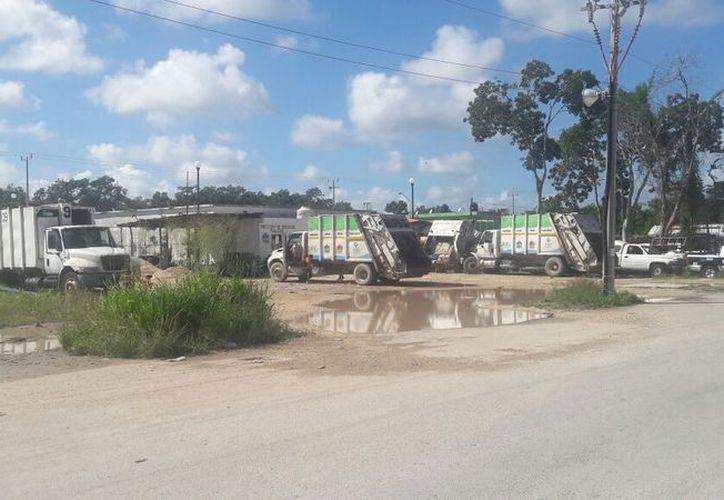 El parque vehicular del Ayuntamiento para la recolección de basura. (Edgar Olavarría/SIPSE)