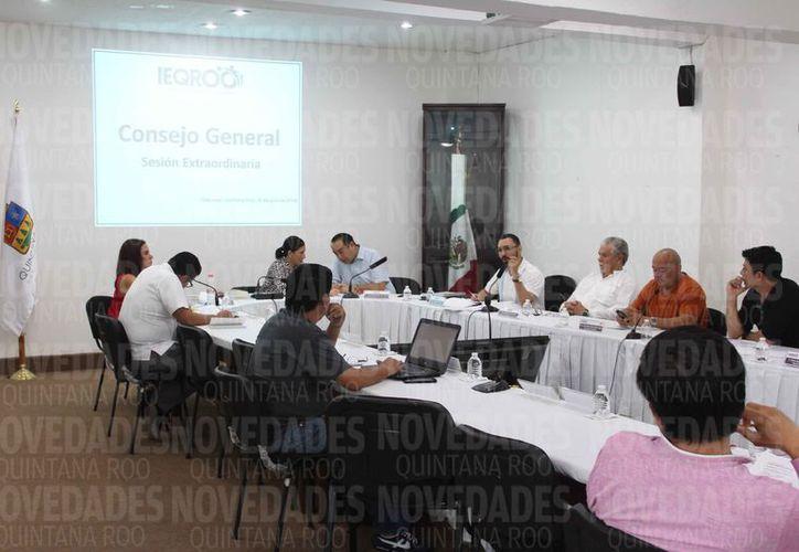 El Consejo General del Ieqroo aprobó el calendario de actividades. (Benjamín Pat/SIPSE)