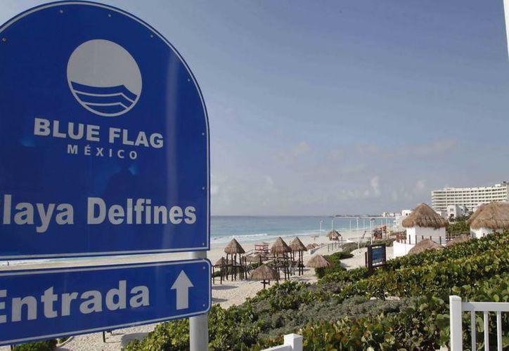 Cancún es el único destino del país con tres playas certificadas: Chac Mool, Las Perlas y Delfines. (Redacción/SIPSE)