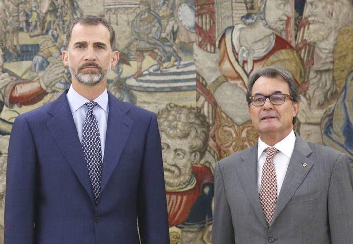 Los detalles de la reunión entre Felipe VI y Artur Mas no fueron revelados. (Casa Real)