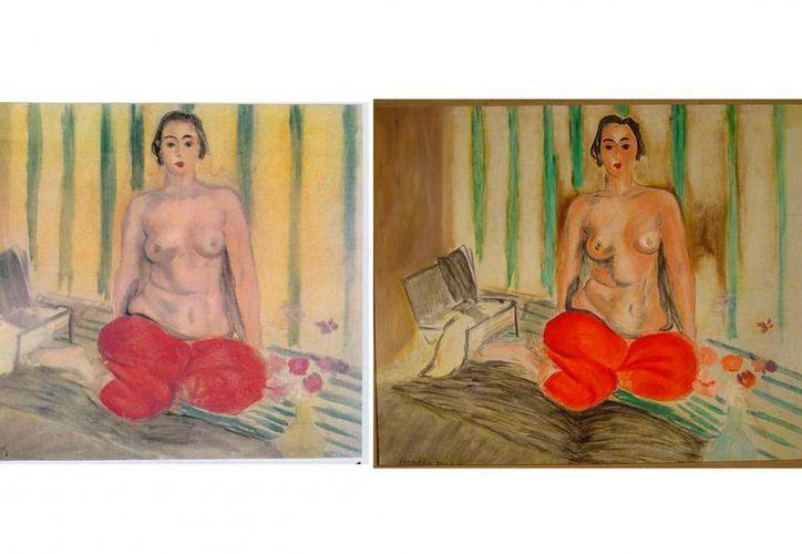 La 'Odalisca con pantalón rojo', valuada en 3 mdd, fue robada del Museo de Arte Contemporáneo de Venezuela en el 2000. (Agencias)