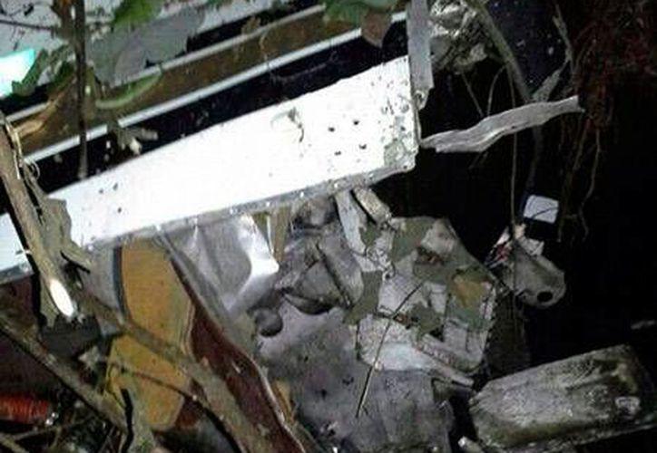 Los restos de la avioneta fueron encontrados en medio de una montaña. (latribuna.hn)