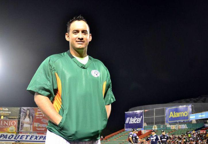 El lanzador cubano Yoanner Negrín, se dijo listo para abrir los pléiofs, con la camiseta bien puesta de Leones de Yucatán. (Milenio Novedades)