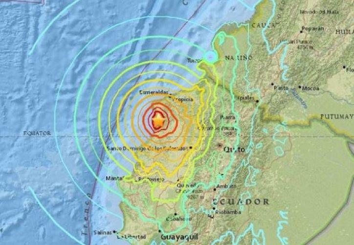 Se registra sismo de magnitud 5.6 grados, a las 18:13 horas (23:13 GMT) a 32.90 kilómetros de Puyo, capital de Pastaza. (Contenido/Internet)
