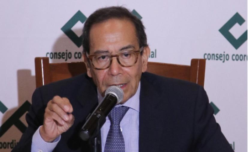 Carlos Salazar Lomelí, presidente del CCE. (Agencia Reforma)