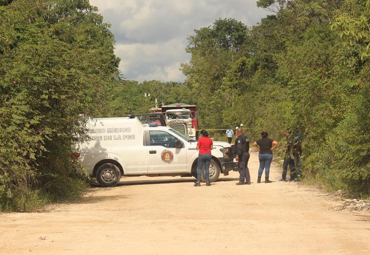 Los albañiles llamaron a los servicios de emergencia, provocando una fuerte movilización hacia la zona. (Redacción/SIPSE)