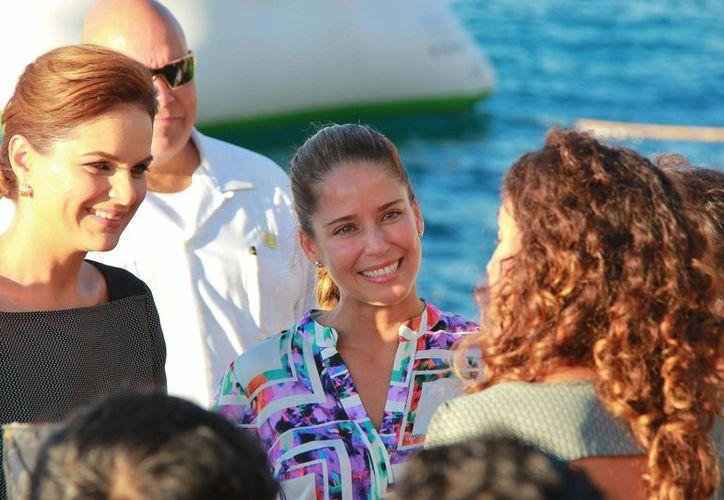 La actriz Ana Claudia Talancón forma parte del elenco. (Gustavo Villegas/SIPSE)