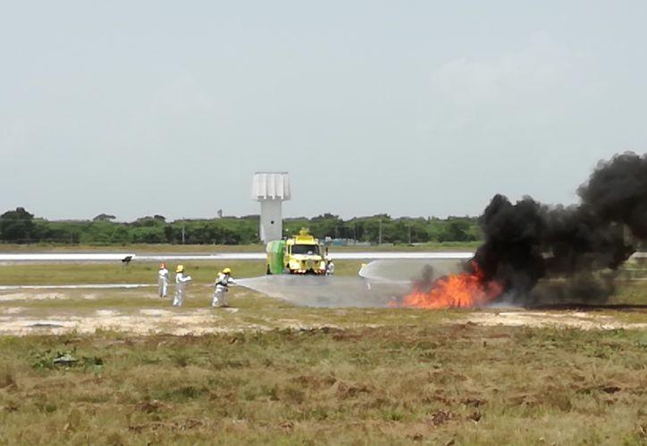 Al menos treinta personas resultaron heridas en el simulacro. (Redacción/SIPSE)
