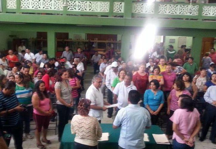 El líder sindical agradeció a los trabajadores su respaldo. (Milenio Novedades)