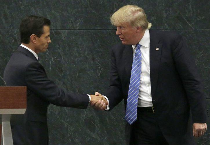 El pasado 31 de agosto, Donald Trump  viajó a México para hablar con el Presidente en Los Pinos acerca de la relación bilateral entre ambas naciones. (Archivo/AP)